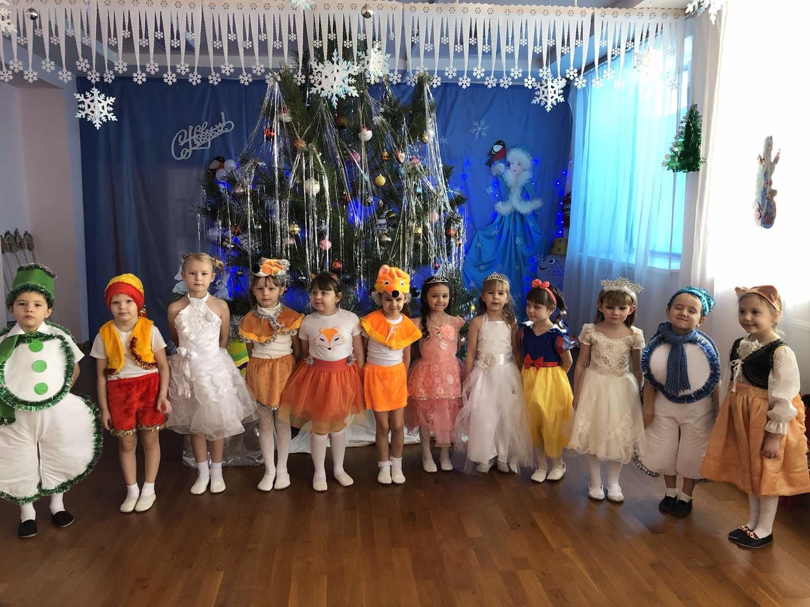 Новогодние утренники в детском саду.